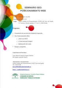 Seminario SEO | Andalucía Emprende Febrero 2020 2